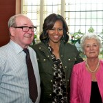 Mr & Mrs Finnegan meet the First lady of the United States.