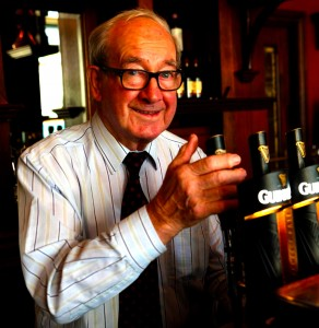Dan Finnegan, founder and proprietor of Finnegan's Pub in Dalkey.